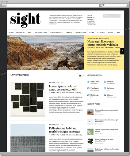 Sight wordpress cms主题